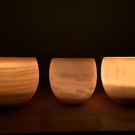 Die handgedrehten Lichter sind transluzent.